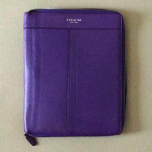 COACH legacy leather zip around iPad case